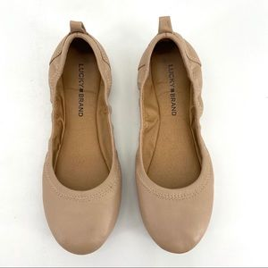 Lucky Brand Tan Leather Ballet Flats 8.5M